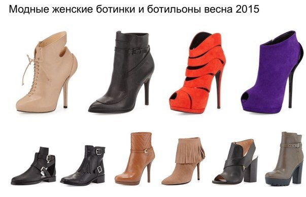 Модные ботильоны, весна 2015